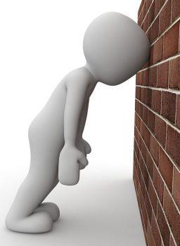 bang head against wall