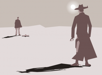duel cartoon