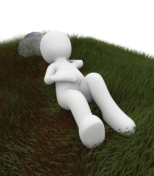 Chillen op het gras