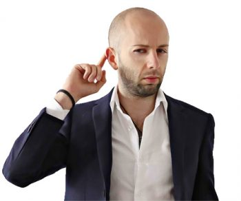 ear cupping: an example of dominant body language