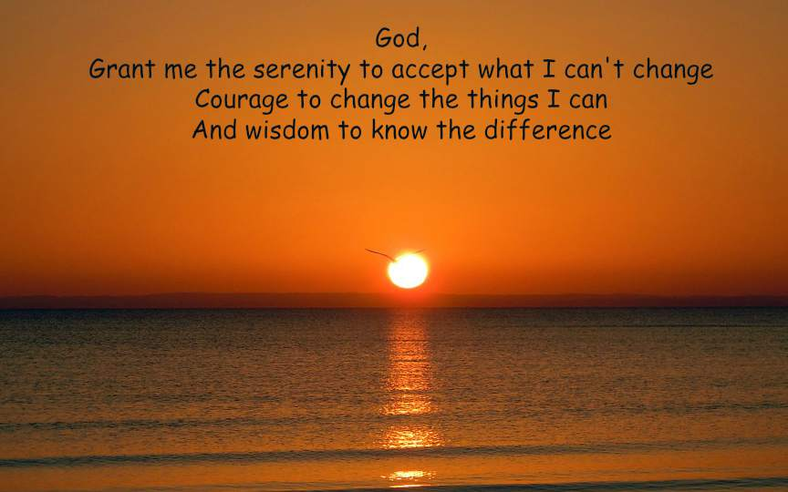 serenity prayer from the obstacle is the way