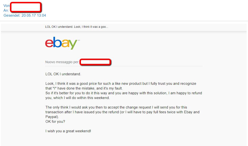 winning an unfair refund request example