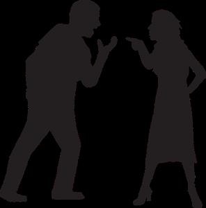 men and women argue