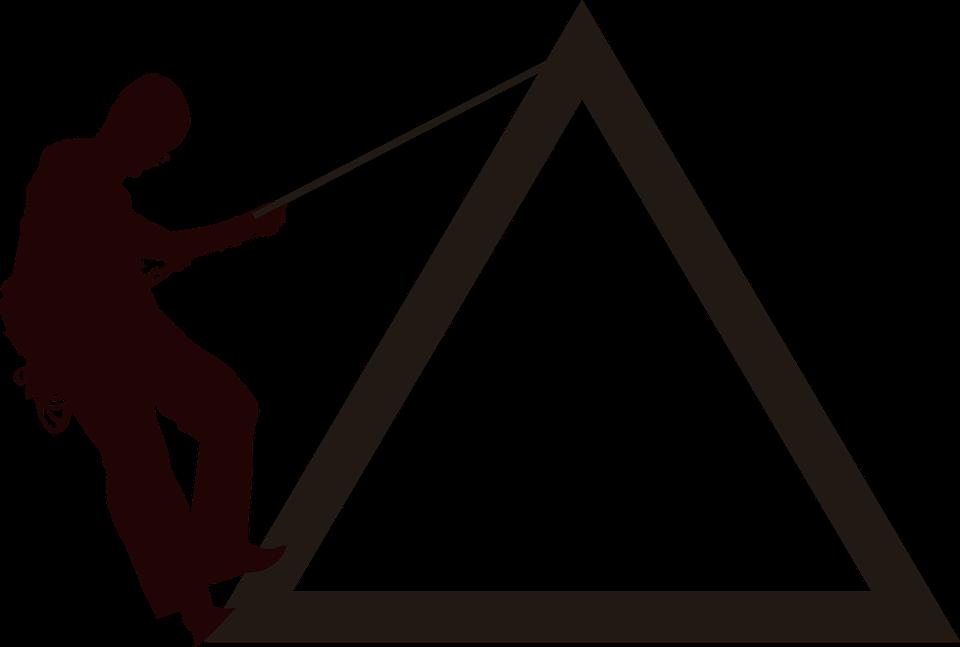 social climber on social pyramid