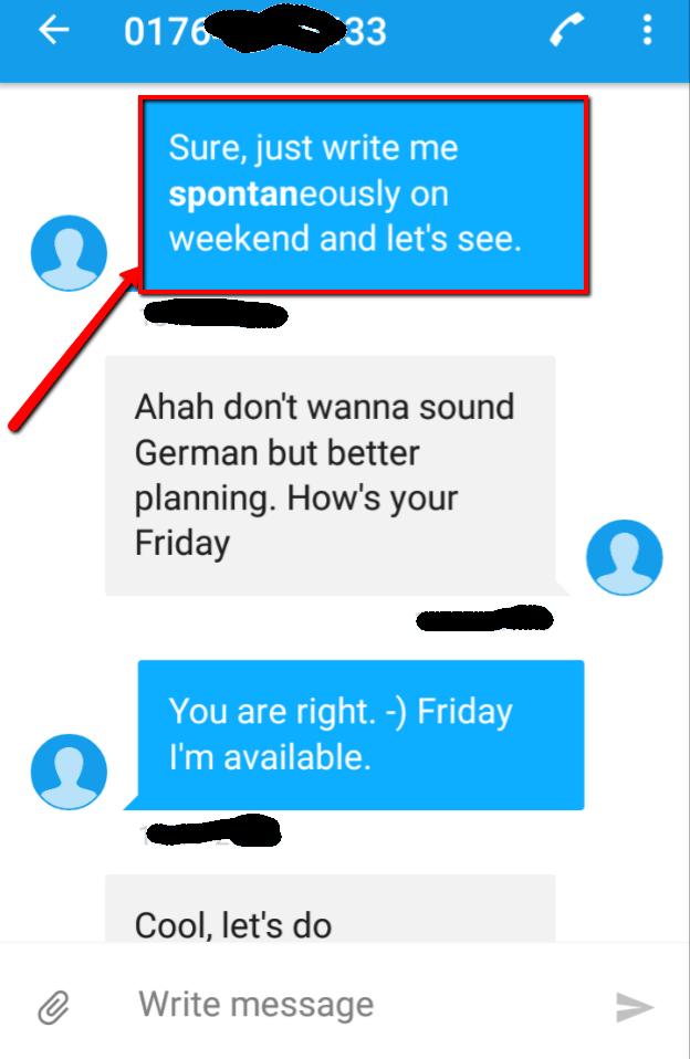 i like being spontaneous - text game