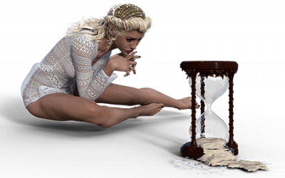 woman wasting her time