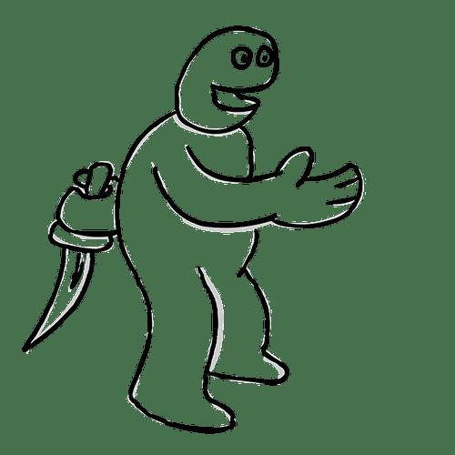 hiding a knife