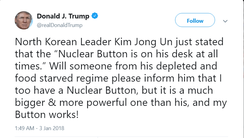trump threatens north korea