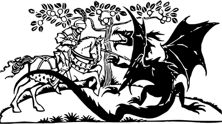 white knight vs black dragon