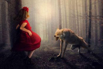 little red hood with wolf
