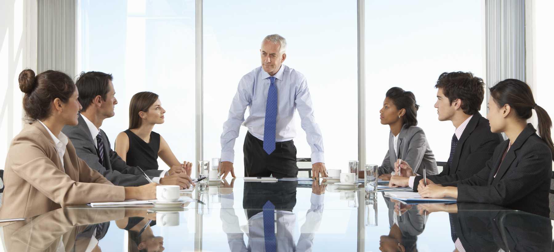 CEO boardroom meeting