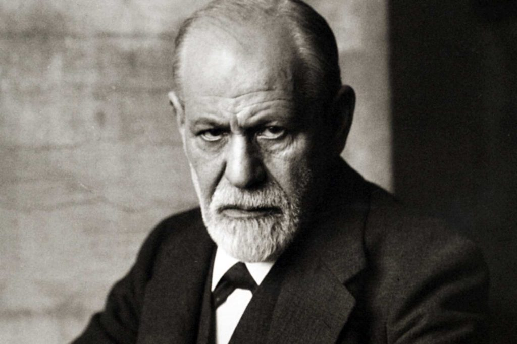 pictrue of angry looking sigmun freud