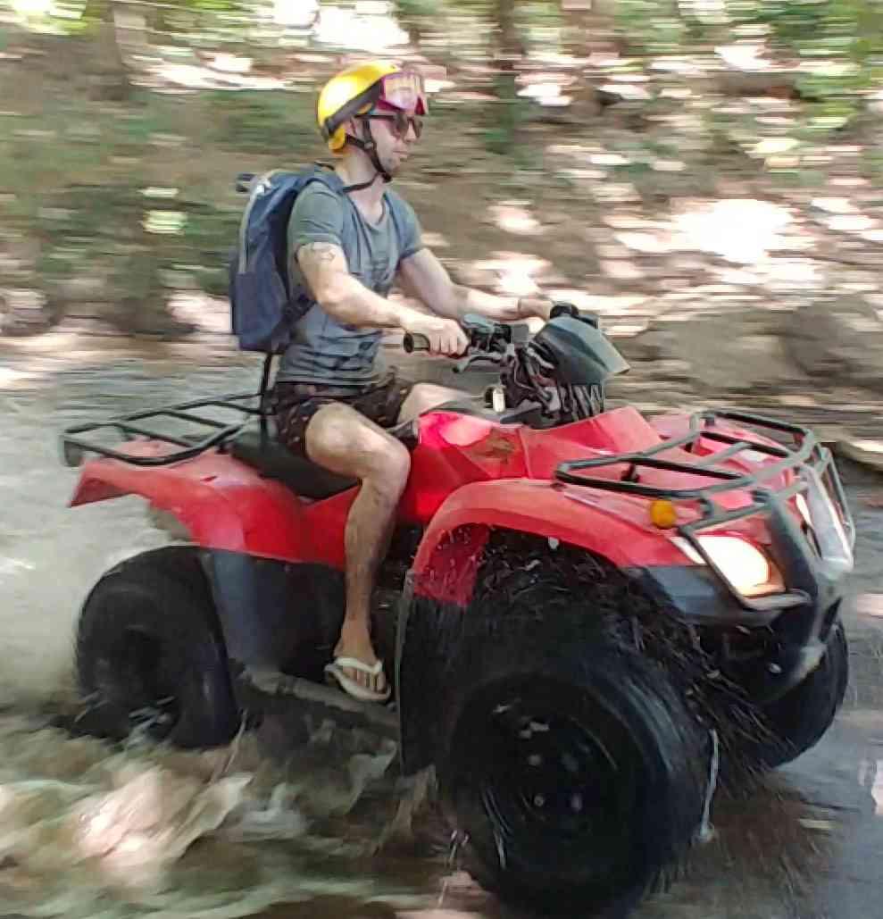 lucio buffalmano riding a quad