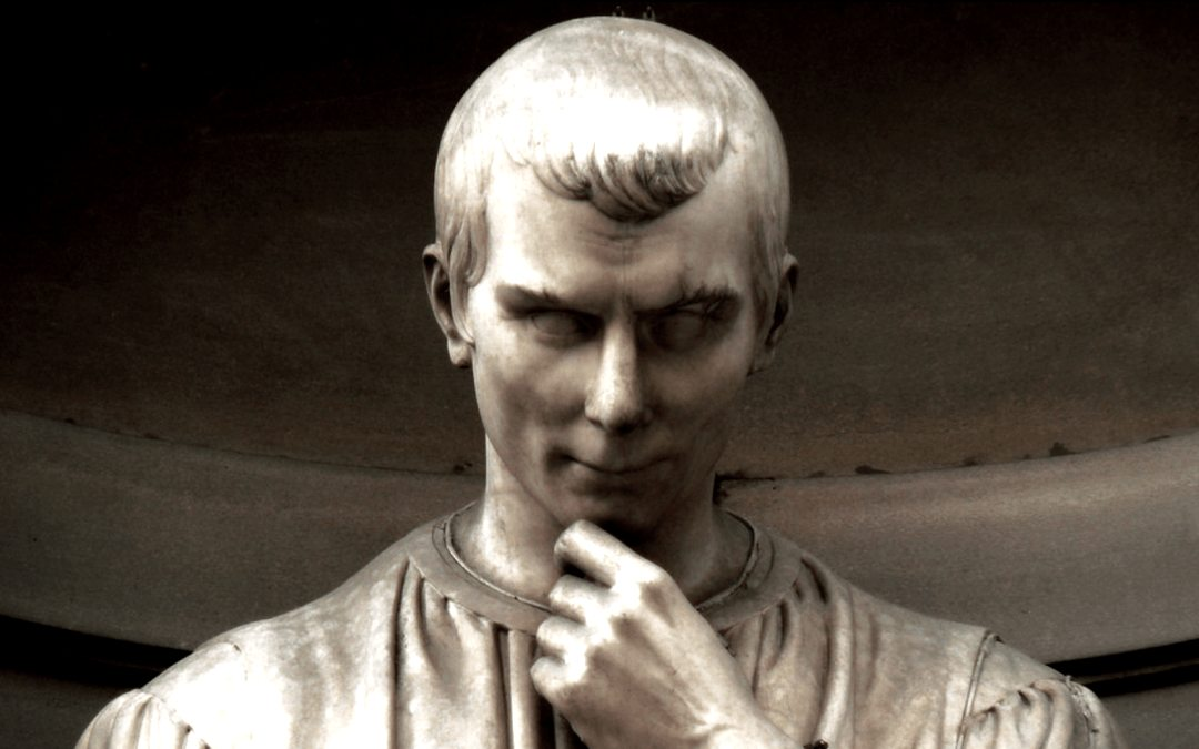 a picture of the statue of Machiavelli