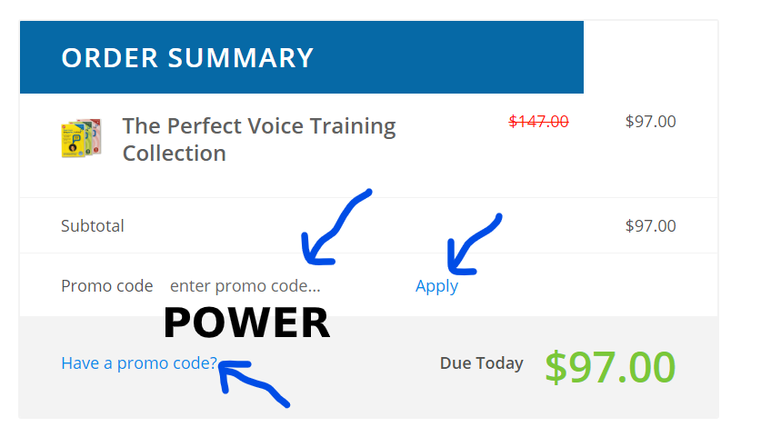 promo code for the perfect voice by roger love
