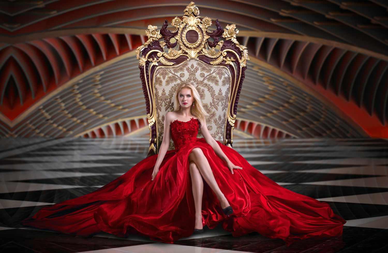 alpha female sitting on a throne
