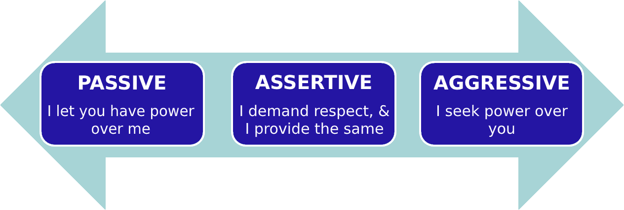 assertion continuum with submission assertion and aggression