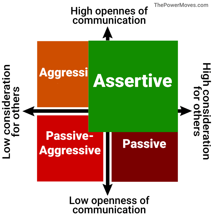 assertiveness quadrant with bigger assertiveness box
