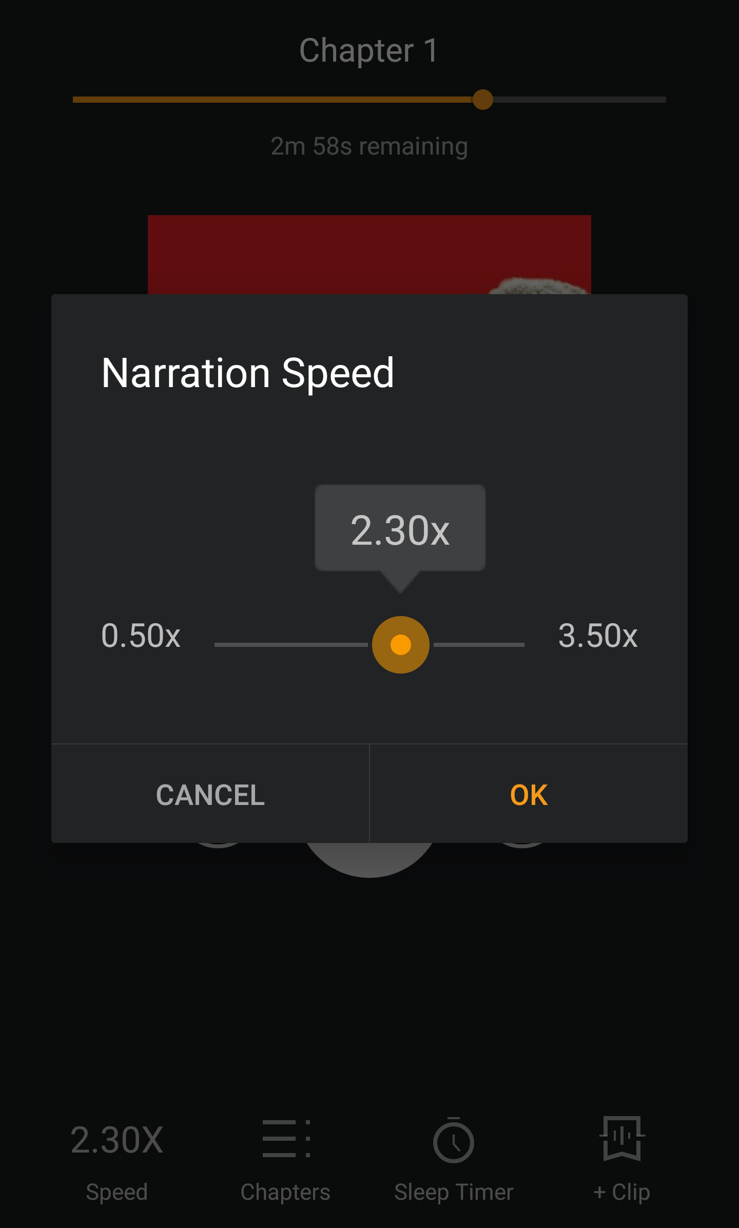 audible app speed selection
