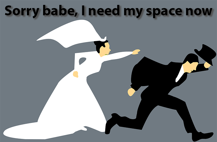 avoidant attachment type escape from wedding