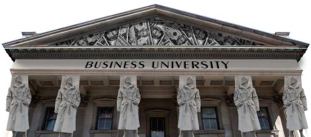 business university logo