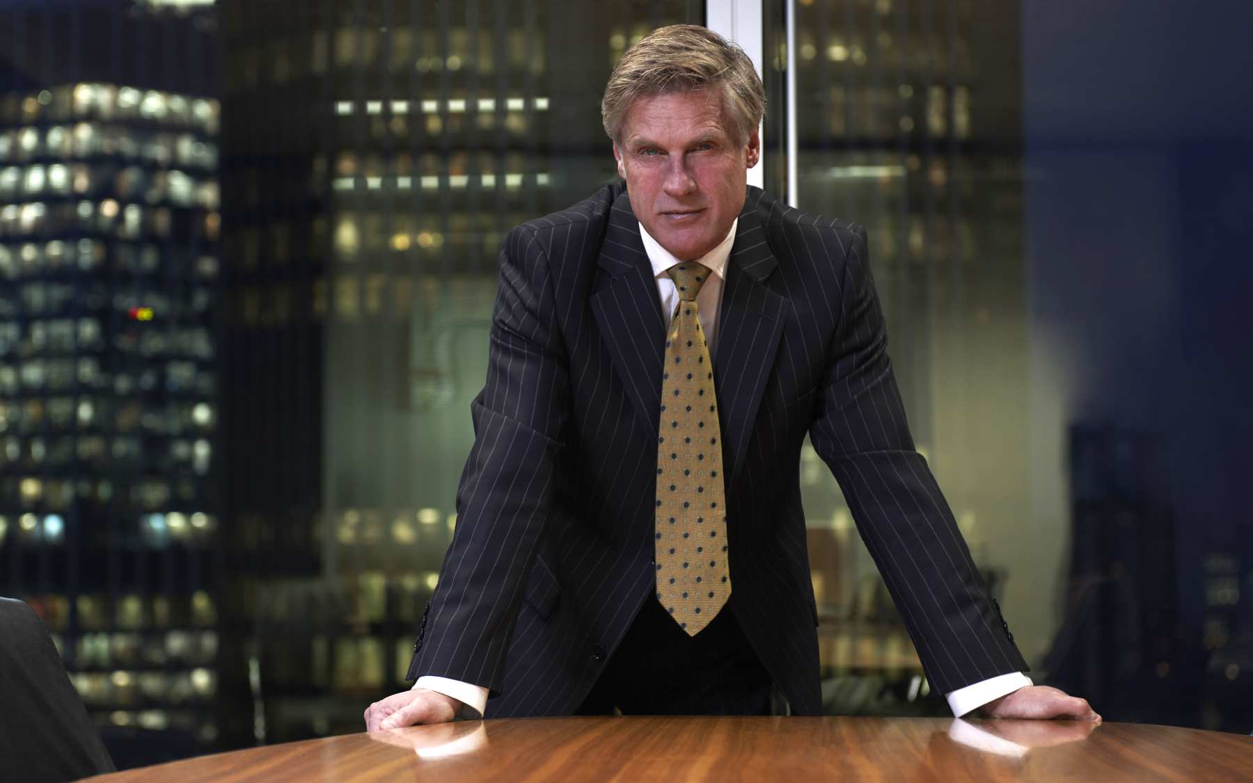 businessman in confident pose