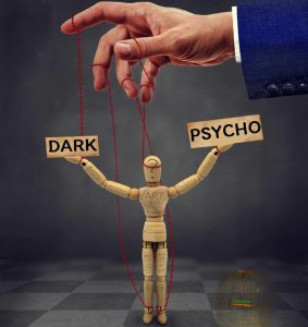 representation of dark psychology with a manipulate muppet