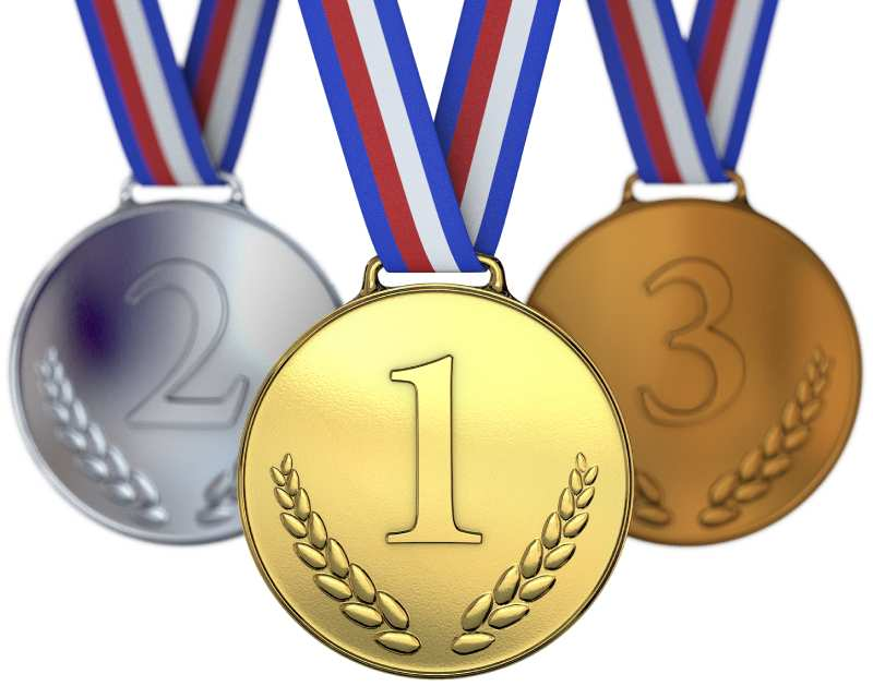 medals for 1st, 2nd, 3rd position