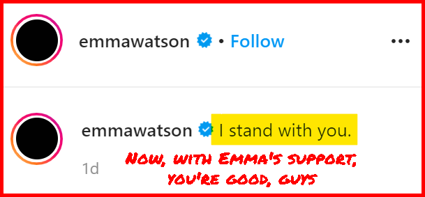 emma watson virtue signaling her support to black people