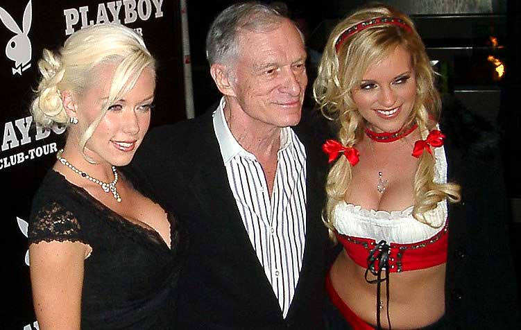hugh heffner mit girlfriends