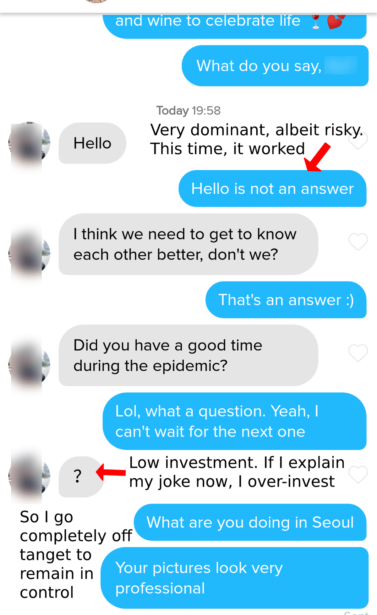 frame control example on tinder