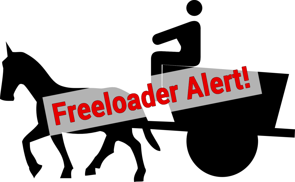 no freeloaders