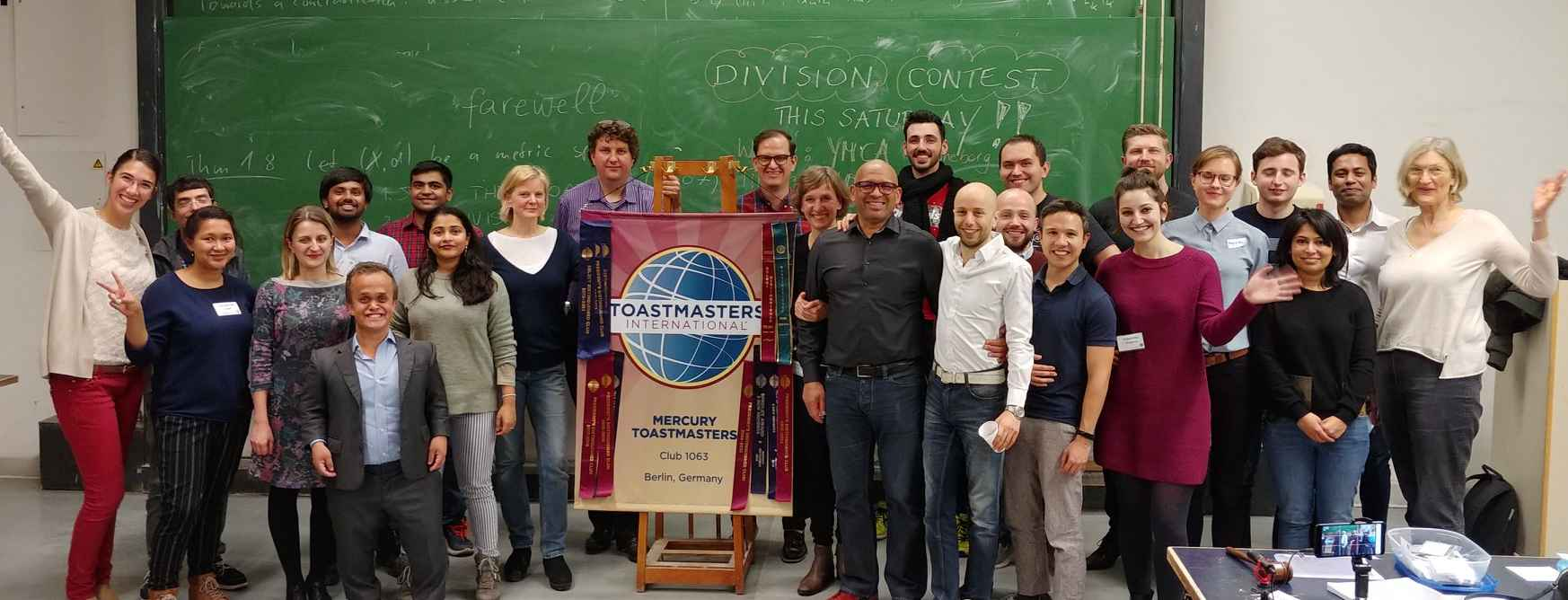 a group of happy toastmasters