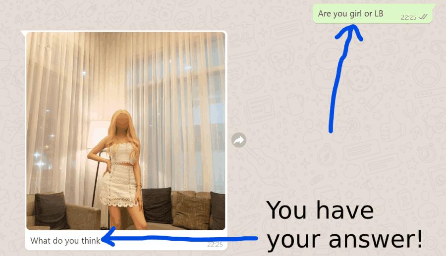 asking a transgender if she is a transgender