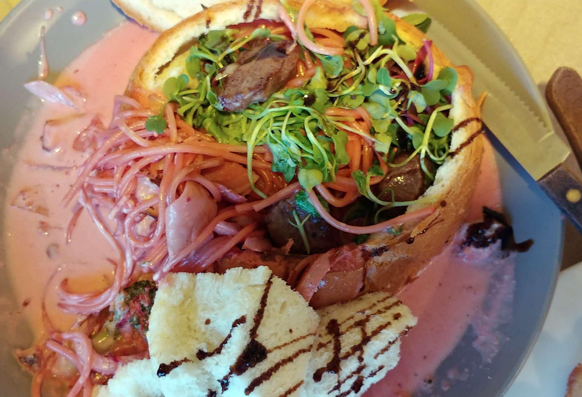 Italian pink pasta in korea