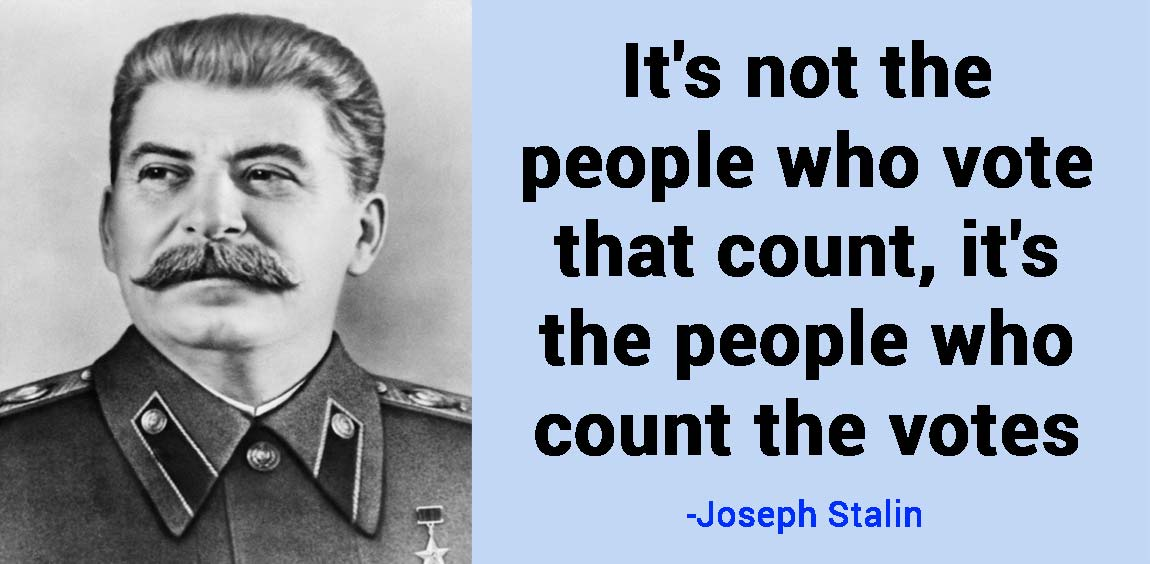 joseph stalin quote it's not the people who vote that count