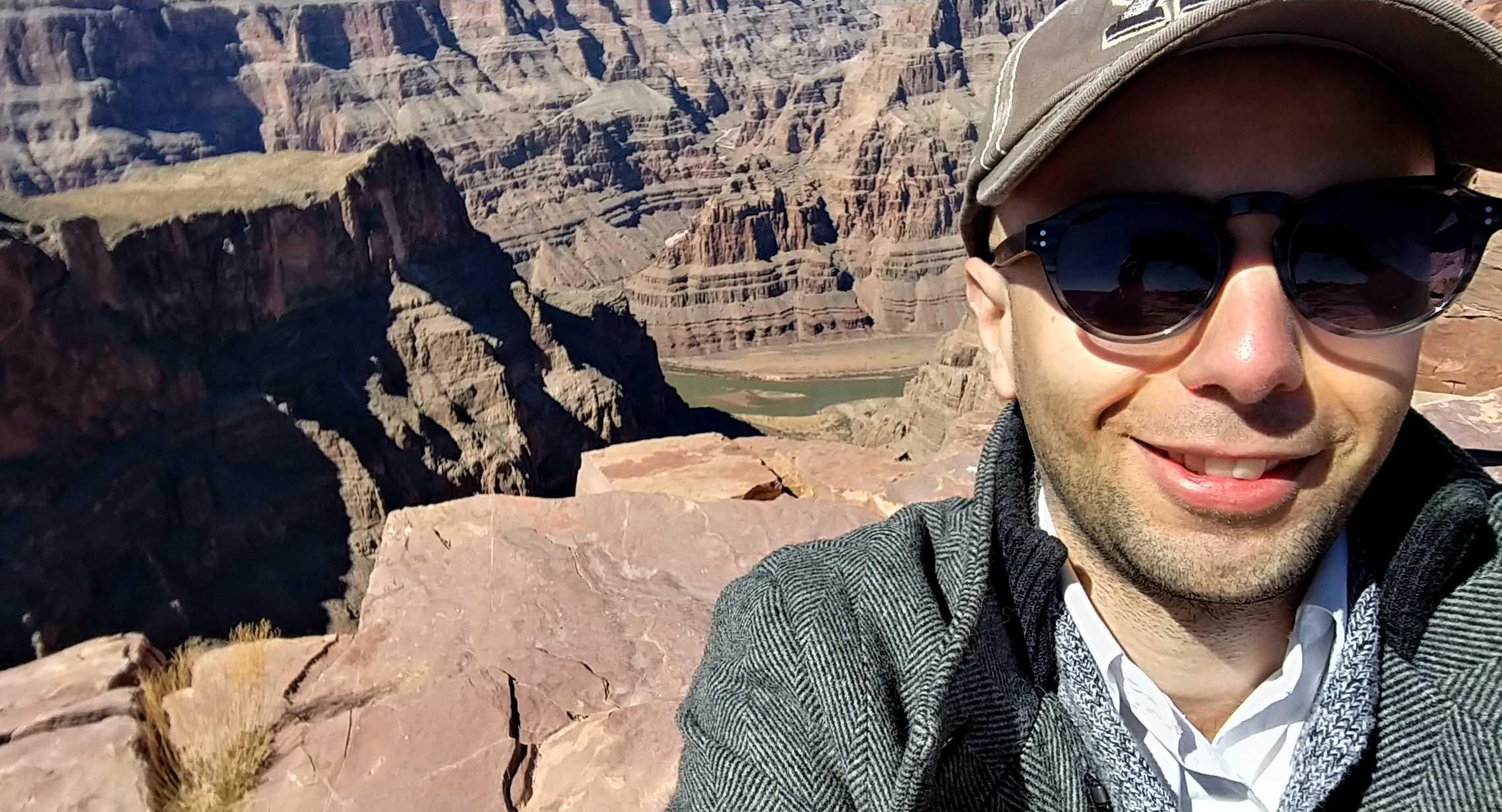 Lucio Buffalmano at the grand canyon