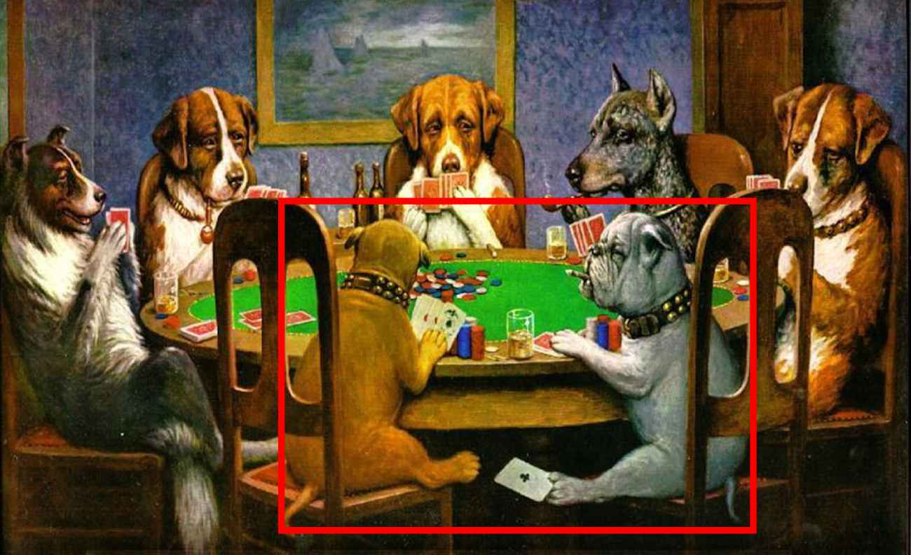 dog poker players cheating