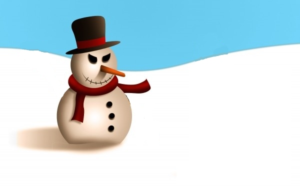 machiavellian-looking snowman