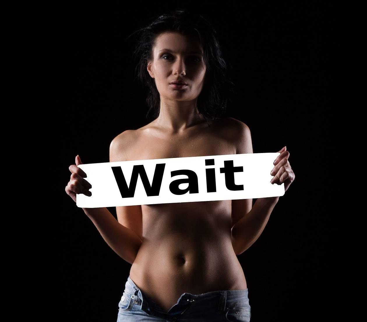 woman makes him wait for sex