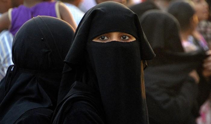 women with a veil
