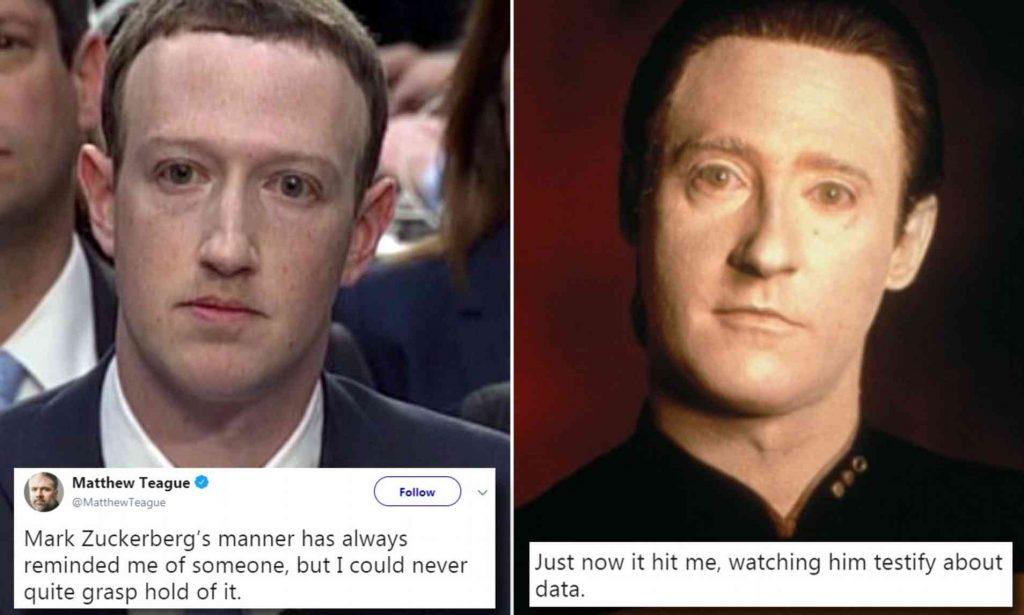meme of mark zuckerberg as a robot with no social skills