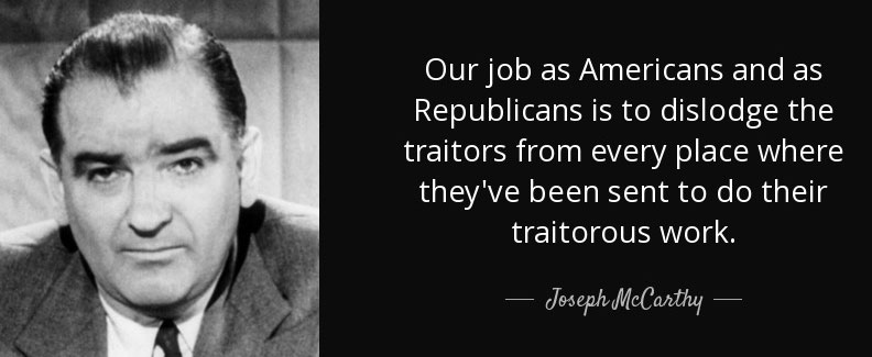 mccarthy quote on communists