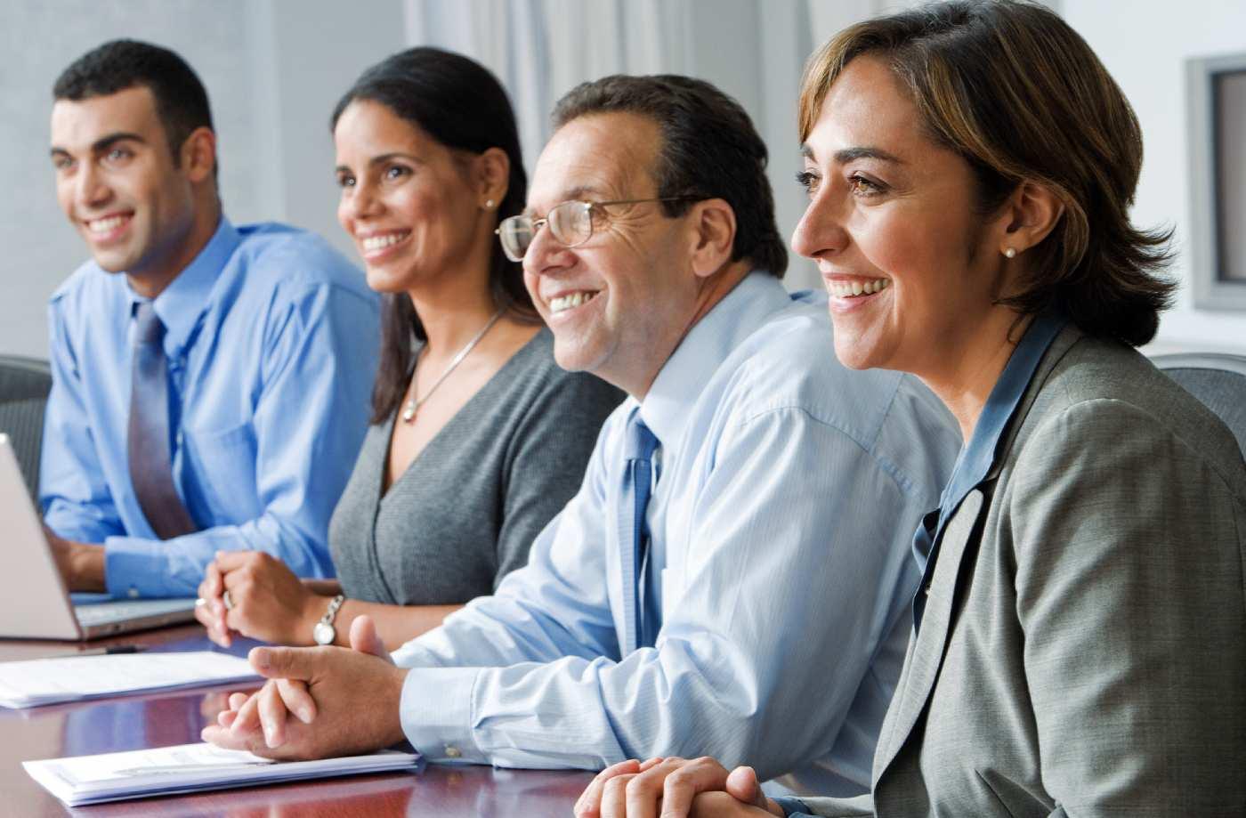work meeting attendees