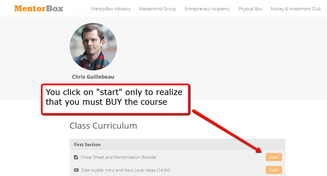 mentorbox fake courses