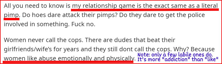 pimp type of seducer text example