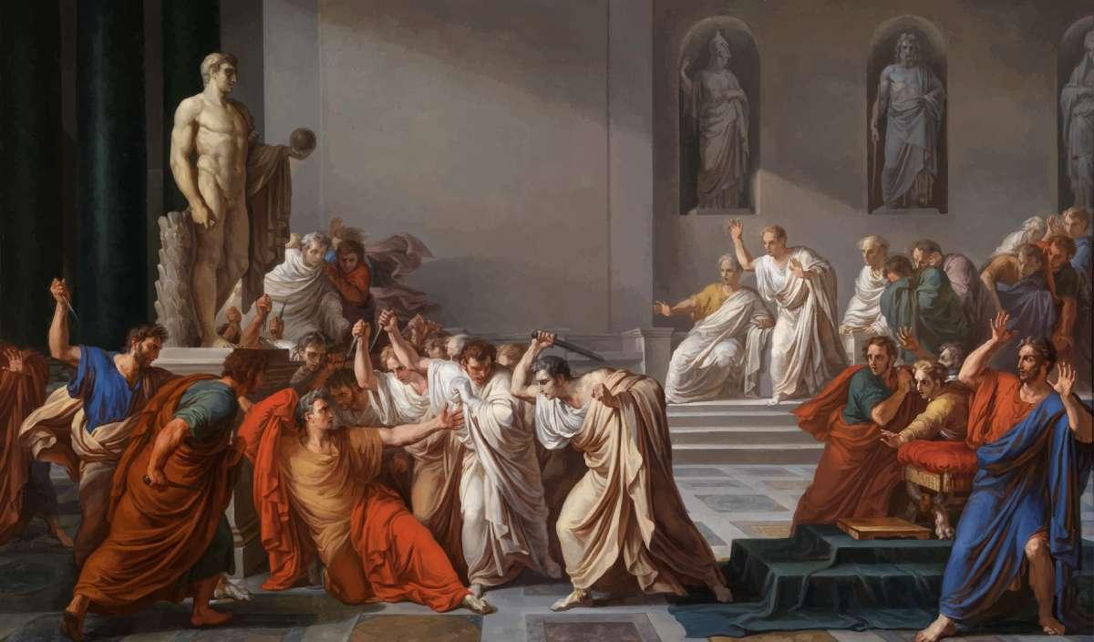 caesar assassination painting