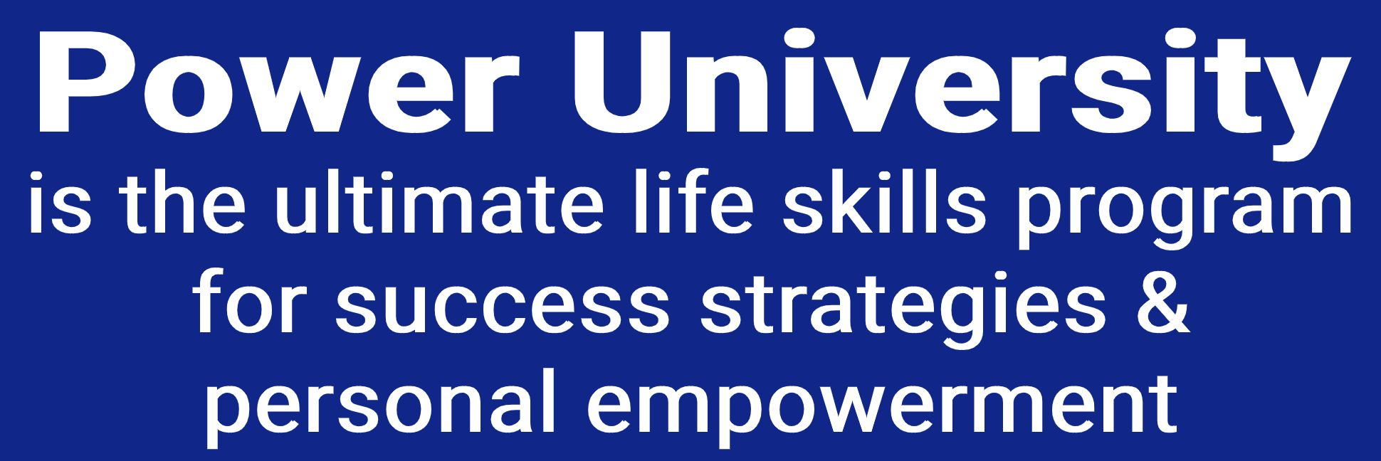 power university banner description