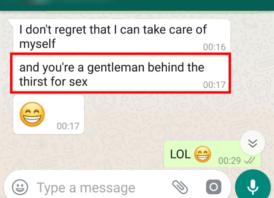 text of a man who's both a provider and lover