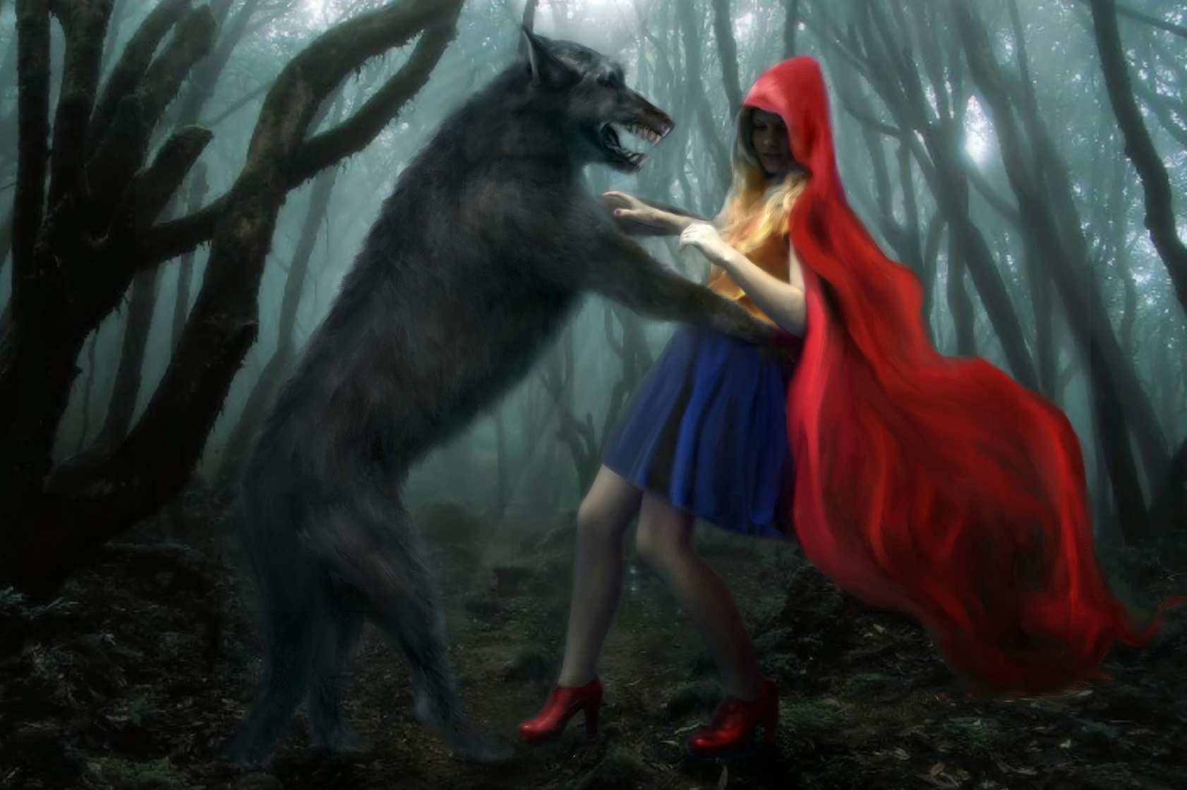 wolf attacks Little Red